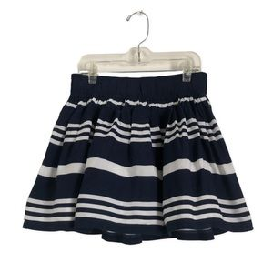 Gilly Hicks Striped Layered Mini Skirt A9